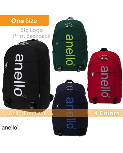 Anello Big Logo Print Polyester Backpack Rucksack AH-B2481