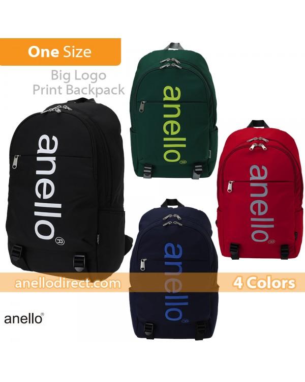 Anello Big Logo Print Polyester Backpack Rucksack AH-B2481