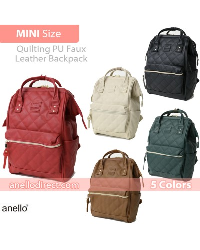 Anello Quilting PU Faux Leather Backpack Rucksack Mini Size AH-B3002