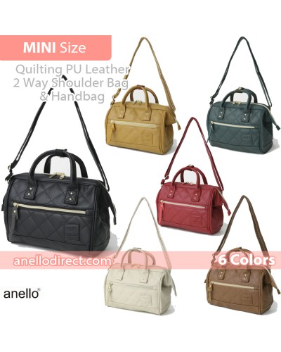 Anello Quilting PU Faux Leather 2 Way Shoulder Bag Handbag Mini Size AH-H1861