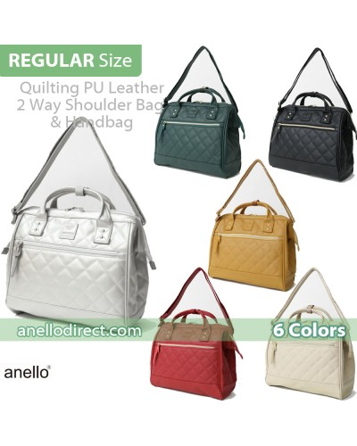Anello Quilting PU Faux Leather 2 Way Shoulder Bag Handbag Regular Size AH-H1862