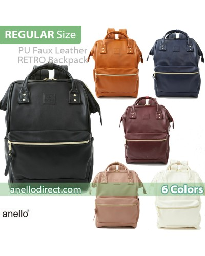 Anello RETRO PU Leather Backpack Rucksack Large Size AHB3771