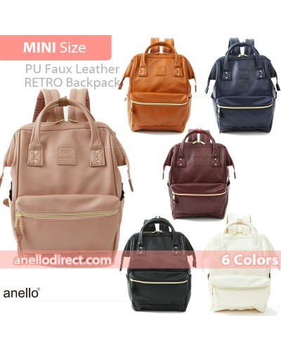 Anello RETRO PU Leather Backpack Rucksack Mini Size AHB3772
