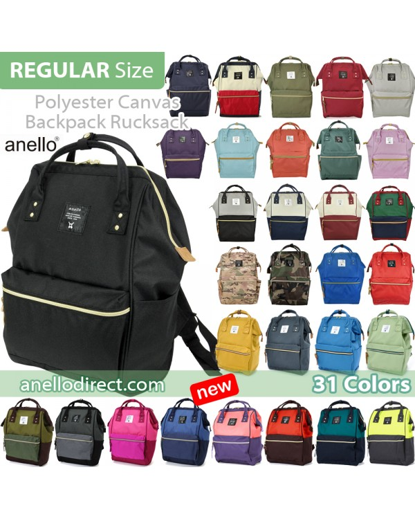 Anello Polyester Canvas Backpack Rucksack Regular Size AT-B0193A