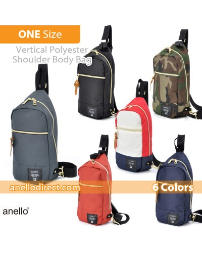 Anello Polyester Canvas Cross Vertical-Type Body Bag AT-B0194