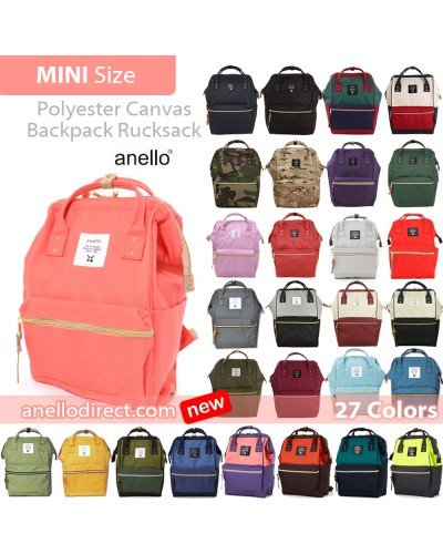 Anello Polyester Canvas Backpack Rucksack Mini Size AT-B0197B