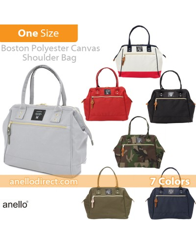 Anello Boston Polyester Canvas Shoulder Bag AT-B1221