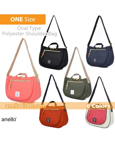 Anello Oval Type Polyester Canvas Shoulder Bag AT-B1229