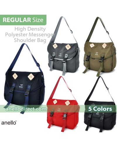 Anello High Density Polyester Messenger Shoulder Bag Regular Size AT-B1621