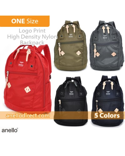 Anello Logo Print High Density Nylon Backpack Rucksack AT-B1623