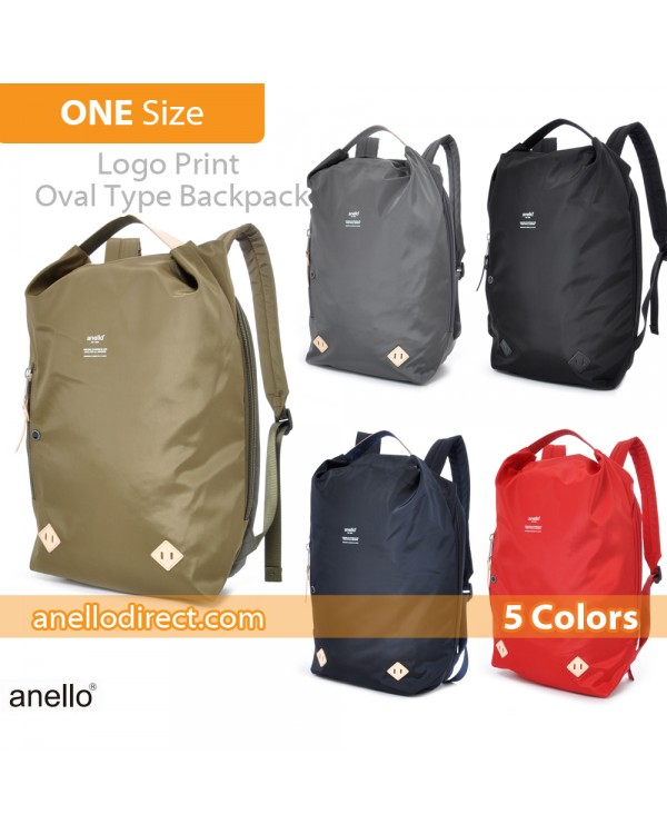 Anello Logo Print Oval Type Backpack Rucksack AT-B1625
