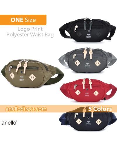 Anello Logo Print Polyester Shoulder Waist Bag AT-B1626