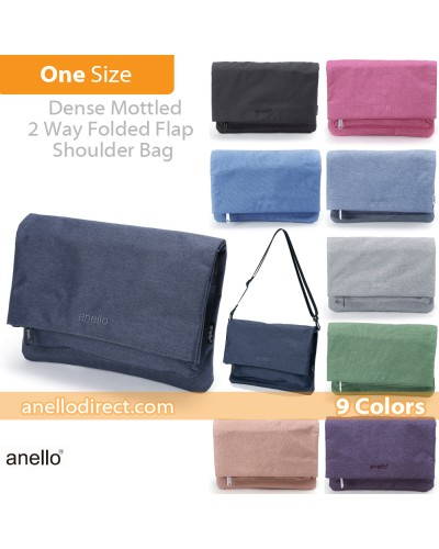 Anello Mottled Polyester 2 Way Clutch Folded Flap Shoulder Bag AT-B2263