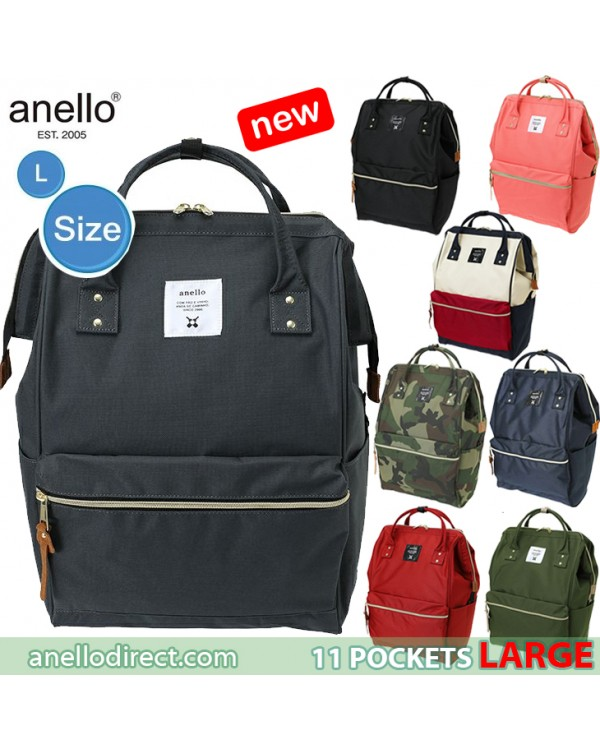 Anello 11 Pockets Polyester Canvas Backpack Rucksack Large Size AT-B2521