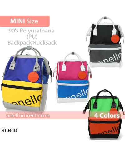 Anello 90s Polyurethane (PU) Backpack Rucksack Mini Size AT-B2791