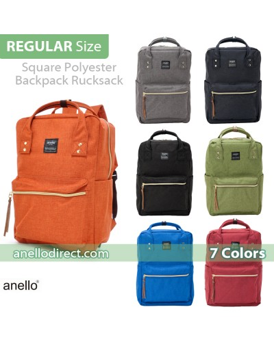 Anello Polyester Canvas Square Backpack Rucksack AT-C1221