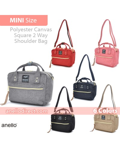 Anello Polyester Canvas Square 2 Way Shoulder Bag Mini Size AT-C1223