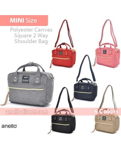 Anello Polyester Canvas Square 2 Way Shoulder Bag Mini Size AT-C1223
