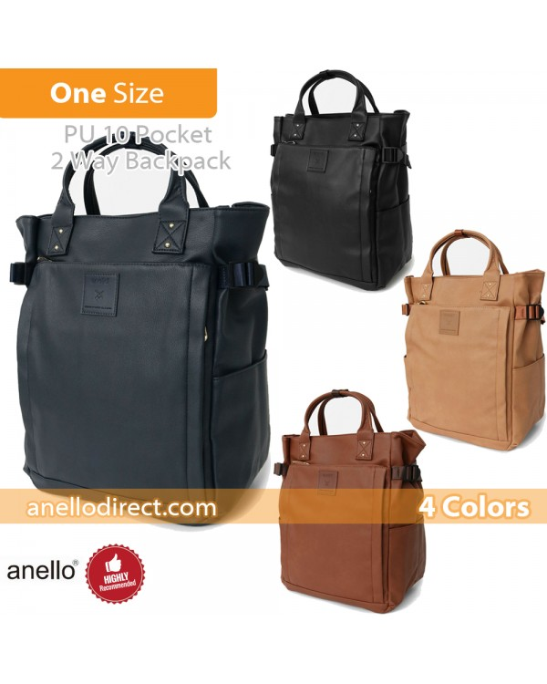 Anello PU Leather 10 Pocket  2 Way Tote Backpack Rucksack AT-C3321