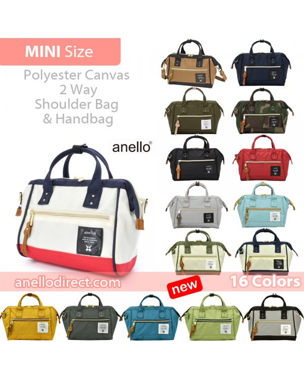 Anello Polyester Canvas 2 Way Shoulder Bag Mini Size AT-H0851