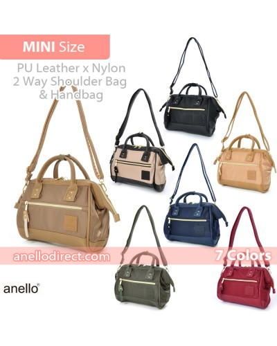 Anello PU Leather X Nylon 2 Way Shoulder Bag Mini Size AT-H1241