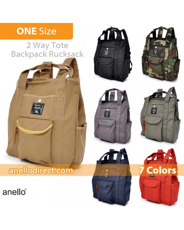Anello Polyester Canvas 2 Way Tote Backpack Rucksack AT-N0071