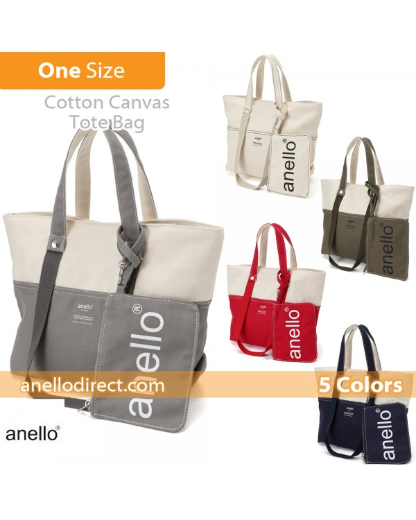 Anello Cotton Canvas Shoulder Tote Bag AU-B2543