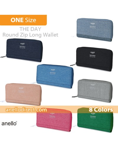 Anello THE DAY Round Zip Long Wallet AU-H1153