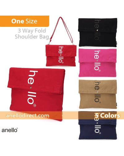 Anello Polyester Cotton 3 Way Clutch Tote Shoulder Bag AU-S0131