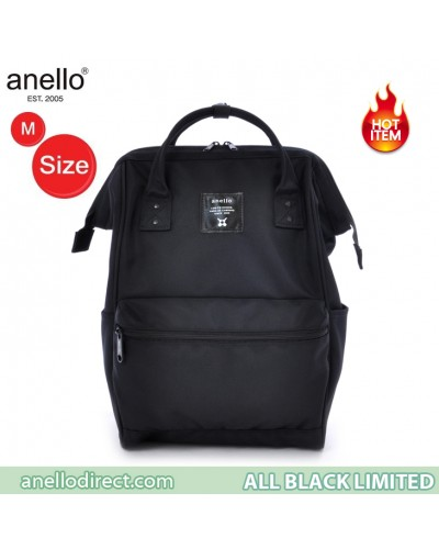 Anello Limited Edition All Black Backpack Rucksack EC-B001