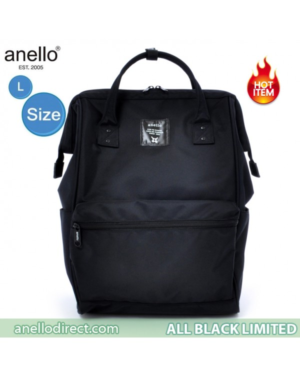 Anello Limited Edition All Black Backpack Rucksack EC-B002