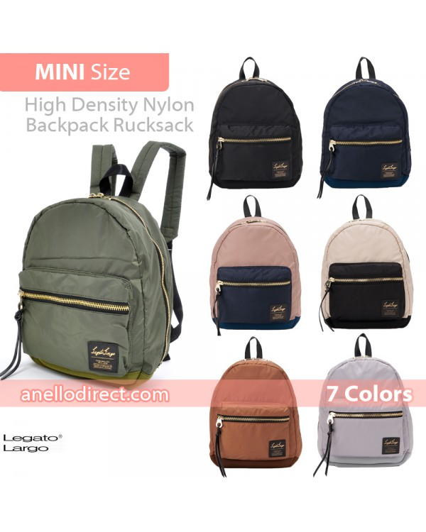 Legato Largo High Density Nylon Backpack Rucksack Mini Size LH-B1027