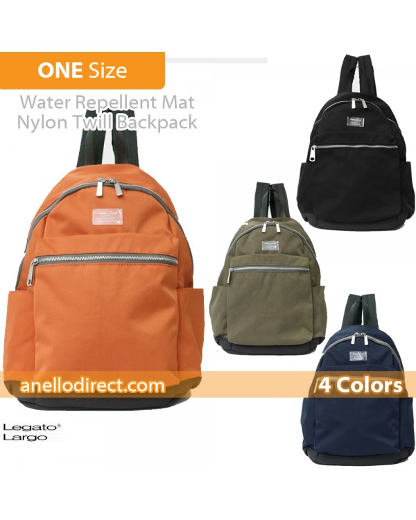 Legato Largo Water Repellent Mat Nylon Twill Backpack Rucksack LH-B3321