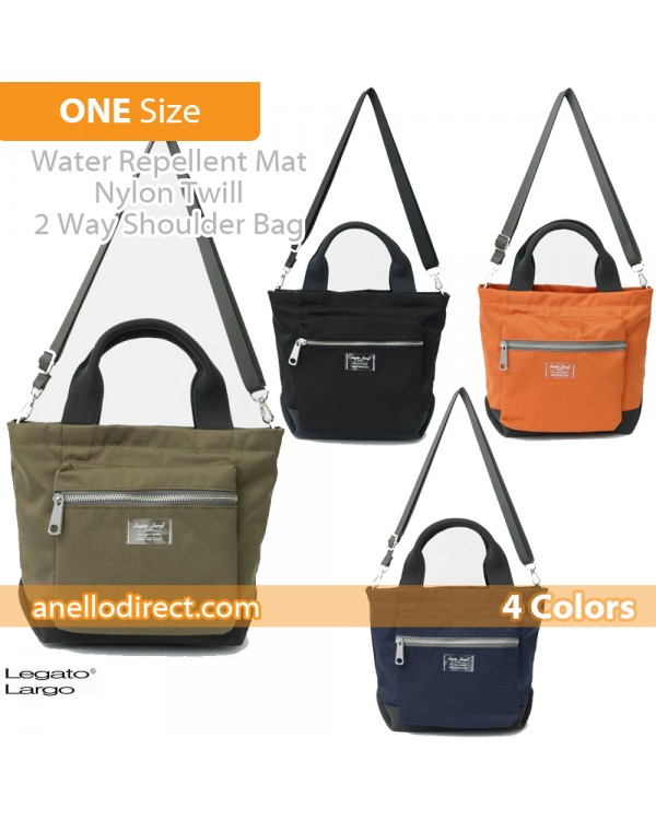 Legato Largo Water Repellent Mat Nylon Twill 2 Way Shoulder Bag LH-B3324