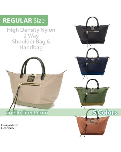 Legato Largo High Density Nylon 2 Way Shoulder Bag Handbag Regular Size LH-C1232