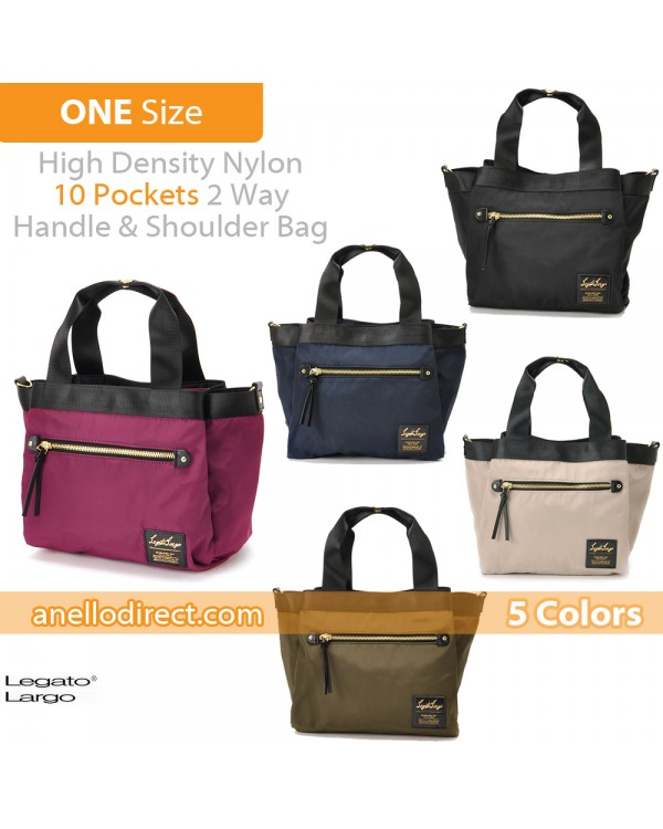 Legato Largo High Density Nylon 10 Pockets 2 Way Handle & Shoulder Bag LH-F1051