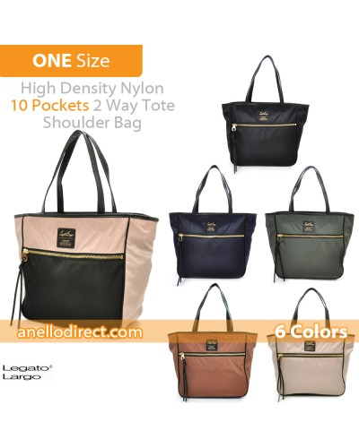 Legato Largo High Density Nylon 10 Pockets 2 Way Tote Shoulder Bag Handbag LH-H0953