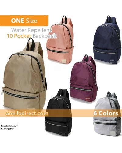 Legato Largo Water Repellent 10 Pocket Backpack Rucksack LH-H1672