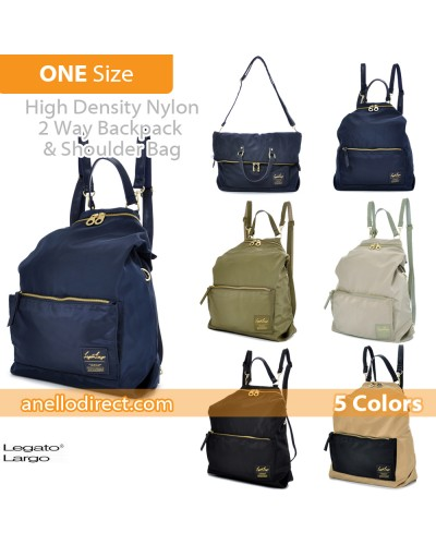 Legato Largo High Density Nylon 2 Way Backpack & Shoulder Bag LH-K1041