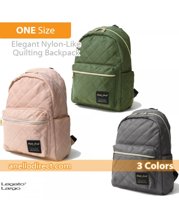 Legato Largo Elegant Nylon-Like Quilting Backpack Rucksack LS-G0773