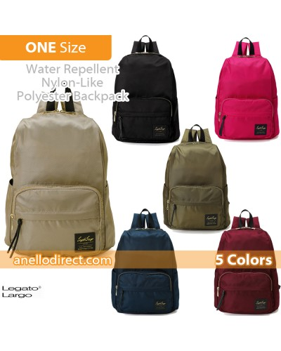 Legato Largo Water Repellent Nylon-Like Polyester Backpack Rucksack LT-C2151