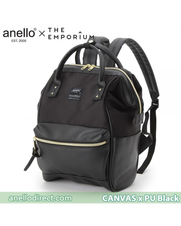 Anello X THE EMPORIUM Limited Edition Canvas X PU Leather Black