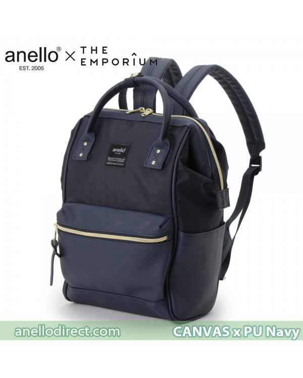 Anello X THE EMPORIUM Limited Edition Canvas X PU Leather Navy