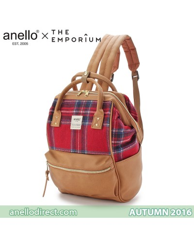 Anello X THE EMPORIUM Limited Autumn Edition 2016 Red Checkered