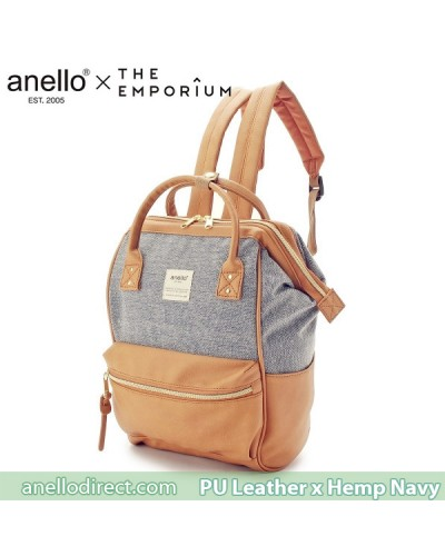 Anello X THE EMPORIUM Limited Edition PU Leather X Hemp Navy