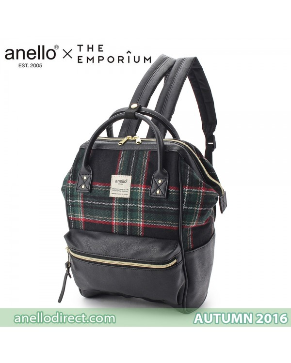 Anello X THE EMPORIUM Limited Autumn Edition 2016 Green Checkered