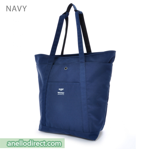 Anello Polyester 2 Way Tote Bag & Backpack Rucksack AH-B1871 Navy Japan Original Official Authentic Real Genuine Bag Free Shipping Worldwide Special Discount Low Prices Great Offer