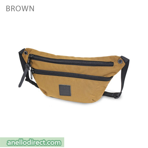 Anello High Density Nylon Shoulder Waist Bag AH-B1902 Brown Japan Original Official Authentic Real Genuine Bag Free Shipping Worldwide Special Discount Low Prices Great Offer
