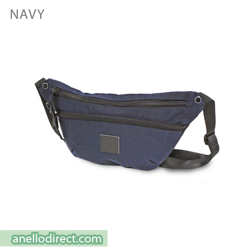 Anello High Density Nylon Shoulder Waist Bag AH-B1902 Navy Japan Original Official Authentic Real Genuine Bag Free Shipping Worldwide Special Discount Low Prices Great Offer