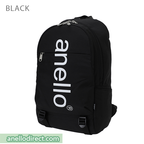 Anello Big Logo Print Polyester Backpack Rucksack AH-B2481 Black Japan Original Official Authentic Real Genuine Bag Free Shipping Worldwide Special Discount Low Prices Great Offer